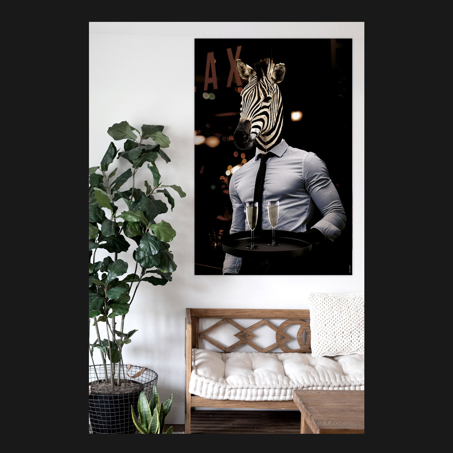 Striped Waiter   Walldsigns
