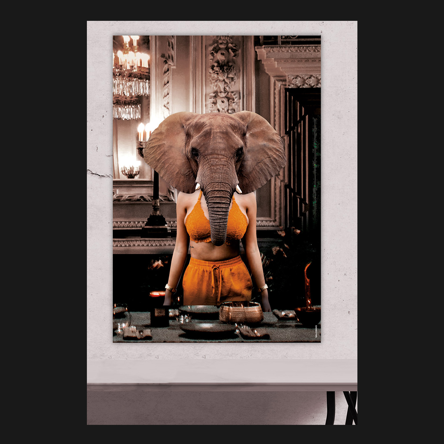 Elephant Guest Last Supper   Walldsigns