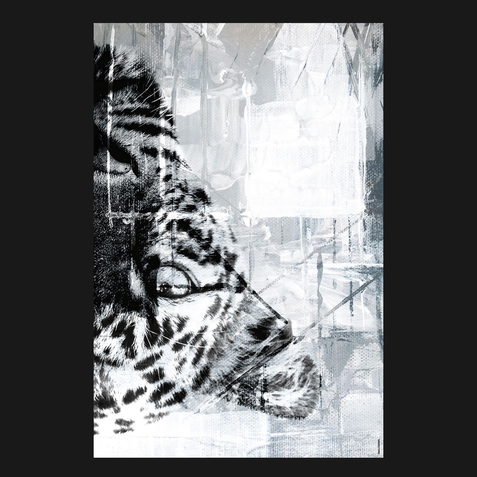 Canvas Tiger Right   Walldsigns